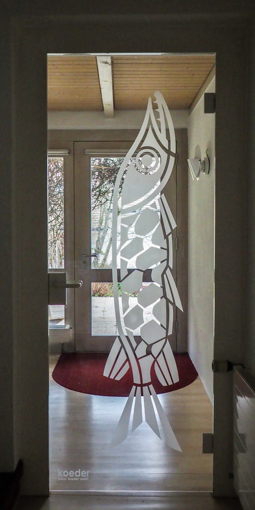 PIKE SWIMS DOOR, SANDBLASTED, VINGELZ